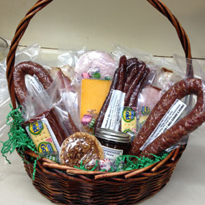 Baskets shown are a sample of what's available. A variety of baskets and boxes are available so orders may vary.